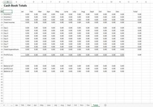 Excel cash book template extended for small business